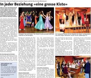 """Zeitungsbericht zu """"La piccola Banda"""", Teil 1: Anzeiger Michelsamt"""