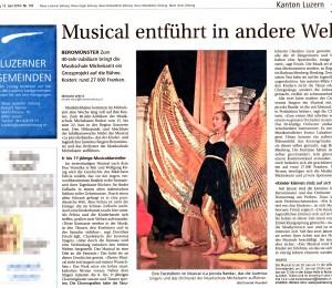 Zeitungsbericht zu «La piccola Banda», Teil 2: Luzerner Zeitung