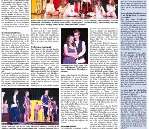 Zeitungsbericht zu «La piccola Banda», Teil 3: Anzeiger Michelsamt